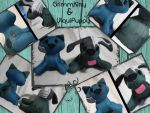 GrimmKitty and UlquiPuppy Plushies by zest1513