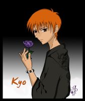 Kyo Holding a Rose by EliaJasmine