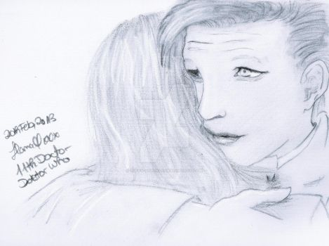 11th Doctor and Amy Pond hug by Luffy-sparkle