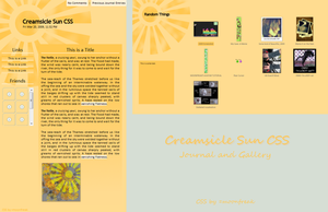 Free Creamsicle Sun CSS by moonfreak