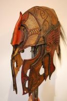 elven helmet front by Sharpener