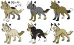 Adoptable wolf puppies 2 by CoolAsh443