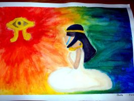 Painting - Fly off to Ra's Eye by Marinta