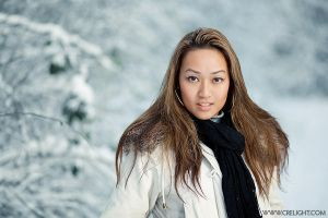Jenny in snow - III by crelight