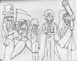 Black Butler cp traced again by nightwing6497
