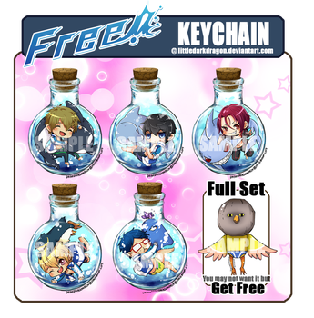 Keychain : Free! set by LittleDarkDragon