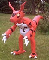 Guilmon Costume by Chromamancer