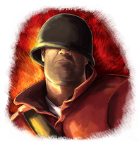 Team Fortress Soldier Portrait by Psamophis