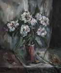 Still-Life with White Flowers by raysheaf
