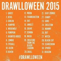 Drawloween Creature List For October 2015 by NekoSickle