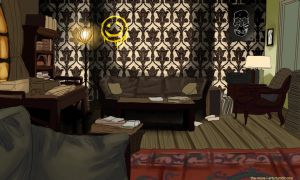 A Mysterious Cab Passes 221b by Sombrewood