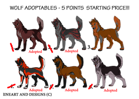 Wolf Adoptables1-CLOSED by WickedSpecter