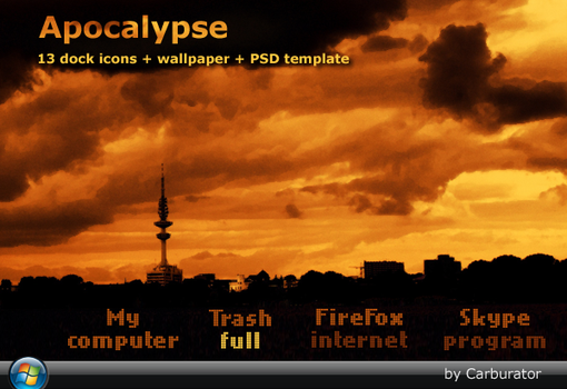 Apocalypse dock icons by Carburator