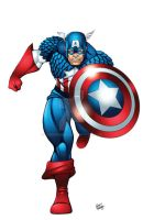 Captain America Color by seanforney