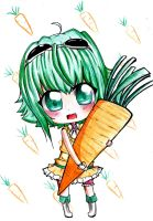 VOC: Gumi Loves Carrots by Abhie008