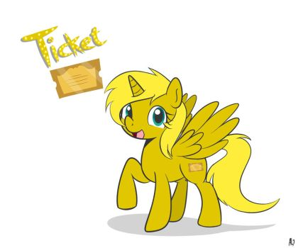 Commission: Ticket by DatAhmedz