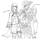 Lucia Usva and Ciar Diascia Line-Art by Juxora