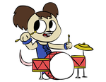 Tanner in the drums by Mercenary-Punk