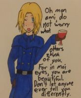 Hetalia- France gives confidence by MapleBeer-Shipper