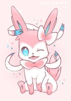 Sylveon Sketch by staticwind