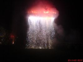 fire work 1 'waterfall' by flamex1991