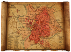 old rome map by hanciong