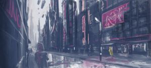 Rainy Day, Filthy City - Speedpaint by trevorcorbin