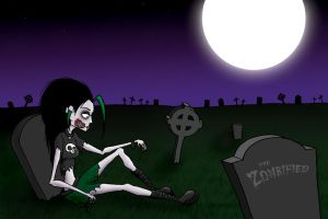 Graveyard Zombie by thezombified