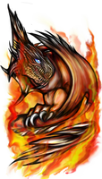 Rathalos by Deoxygenated