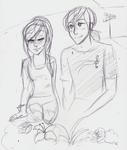 July Doodles 2014: The Ninteenth: Queen and King by RosyAutumn