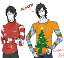 Terrible Christmas Sweaters by bug-in-my-eye