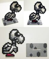 Perler Bead Dry Bones with Stand by NerdyNoodleLabs