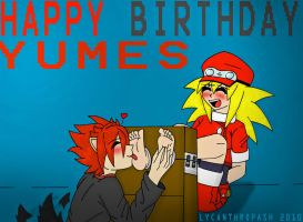 Happy Birthday Yumes by LycanthropAsh