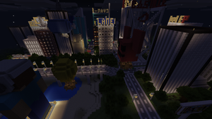 Minecraft PE Solaris City at Night 2 by Gaming-Master