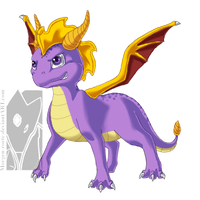 Spyro the Dragon by Tinuvion