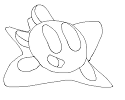 Kirby Uncolored by LimeTH