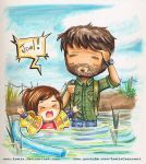 The Last of Us Joel and Ellie by Lemia