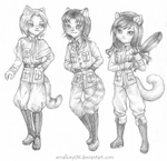 Green-eyed Trio by xmallory08