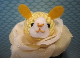 Amigurumi Yellow Bunny Flower by AmiTownCreatures