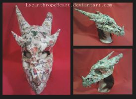 Dragon Helmet... No paint, yet! XP by LycanthropeHeart