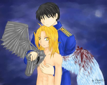 RoyxEd broken winged angel by ChibiEdo
