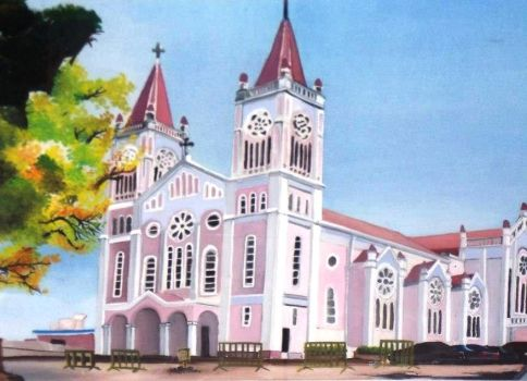 BAGUIO CATHEDRAL by tin--chan