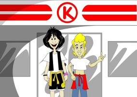 BILL AND TED AT THE CIRCLE K by jamce
