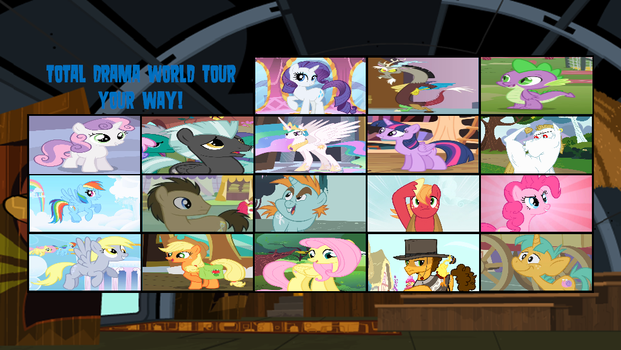 Total Pony World Tour Elimination Order by DEEcat98
