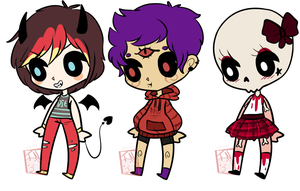 Kawaii Horror Adopts { CLOSED } by KillersQueens