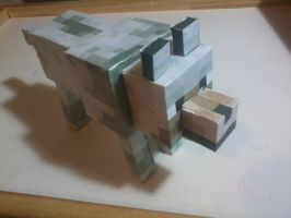 [PaperCraft] Minecraft Wolf 01 by luvini