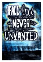Fall in Love With Someone Who Never Lets You Fall by DindaWardhanie