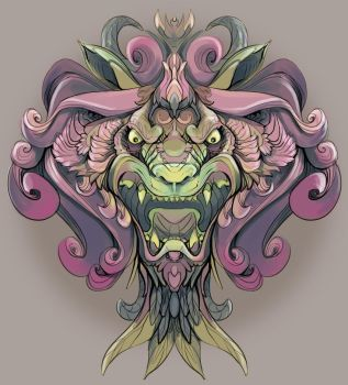 Orchid Lion by CoinTossGirl
