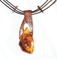 Amber  Wood Thong - necklace by AmberSculpture