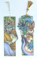 Honey Husky Bookmark Commish by wielderofthewind